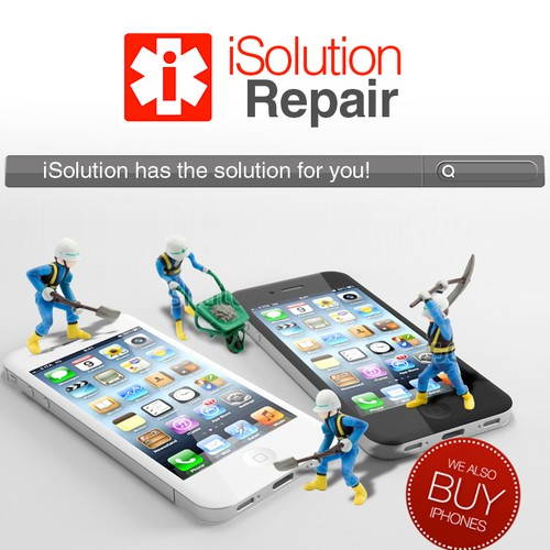 Signage / Banner Ad for iSolution Repair