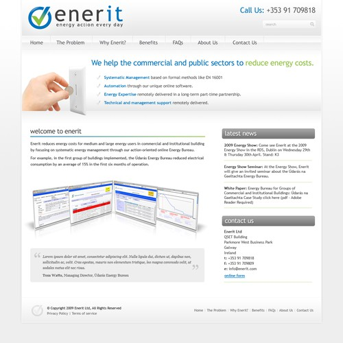 Site Design for energy management consultants