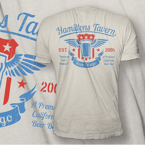 """Hamiltons Tavern 9th Anniversary""  T-shirt"