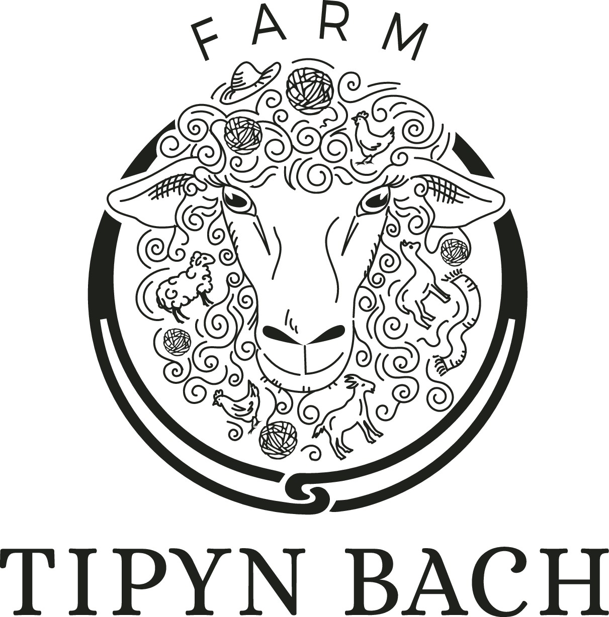 Business cards and labels for farm.  Products are yarn and hand made woolen goods