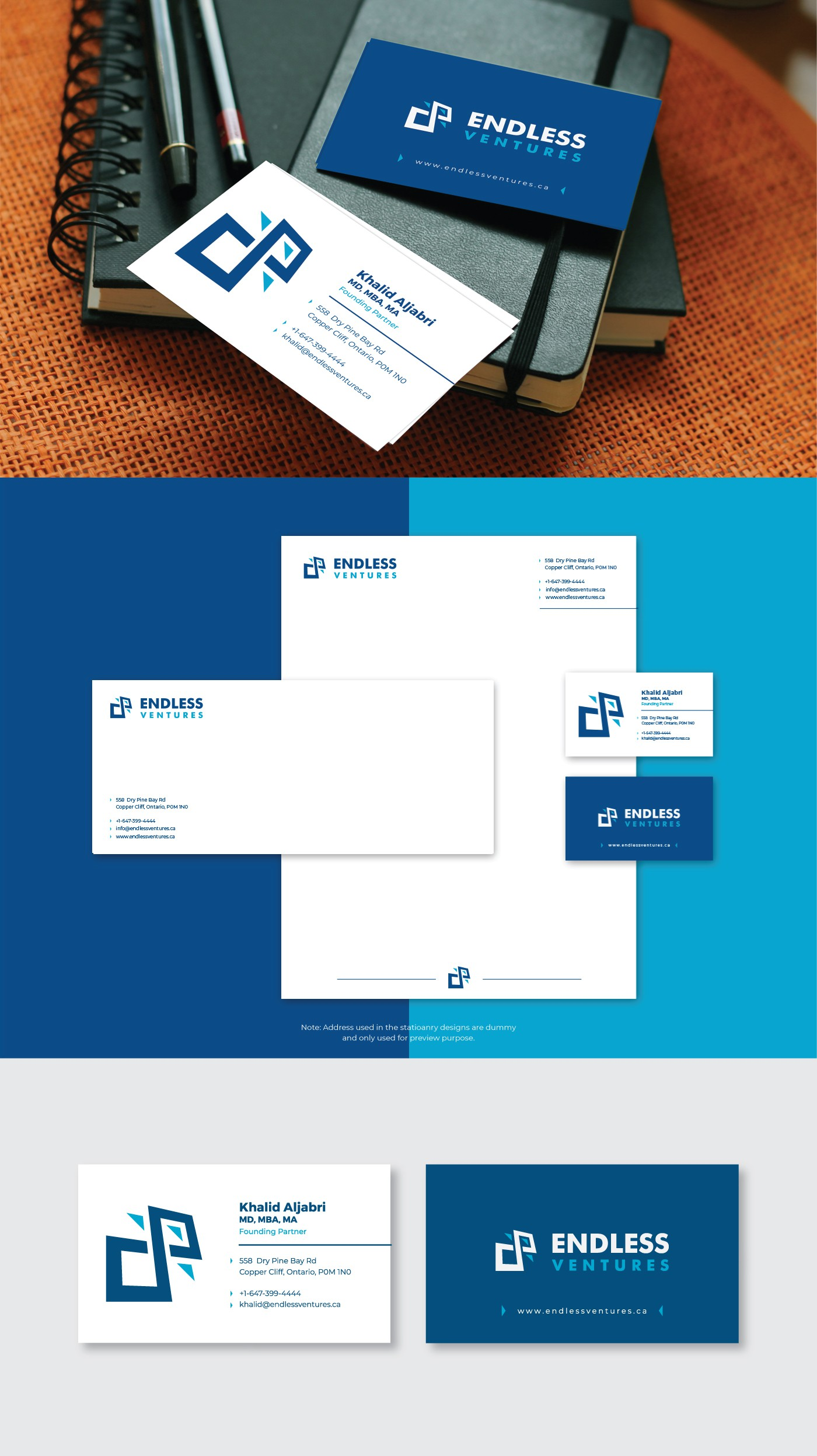 Logo design with complete identity pack.