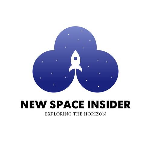 Space rocket logo.