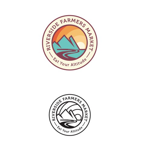 Logo design for A Riverside Farmers Market