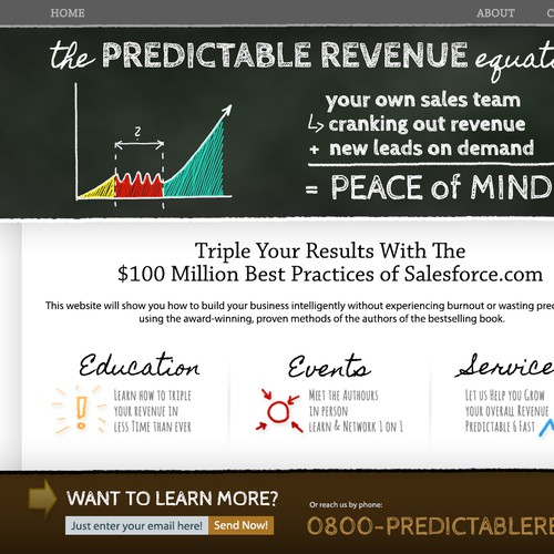 Predictable Revenue engaging landing page