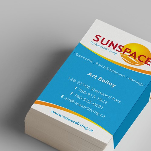 Business Card Design for Sunspace by Relaxed Living