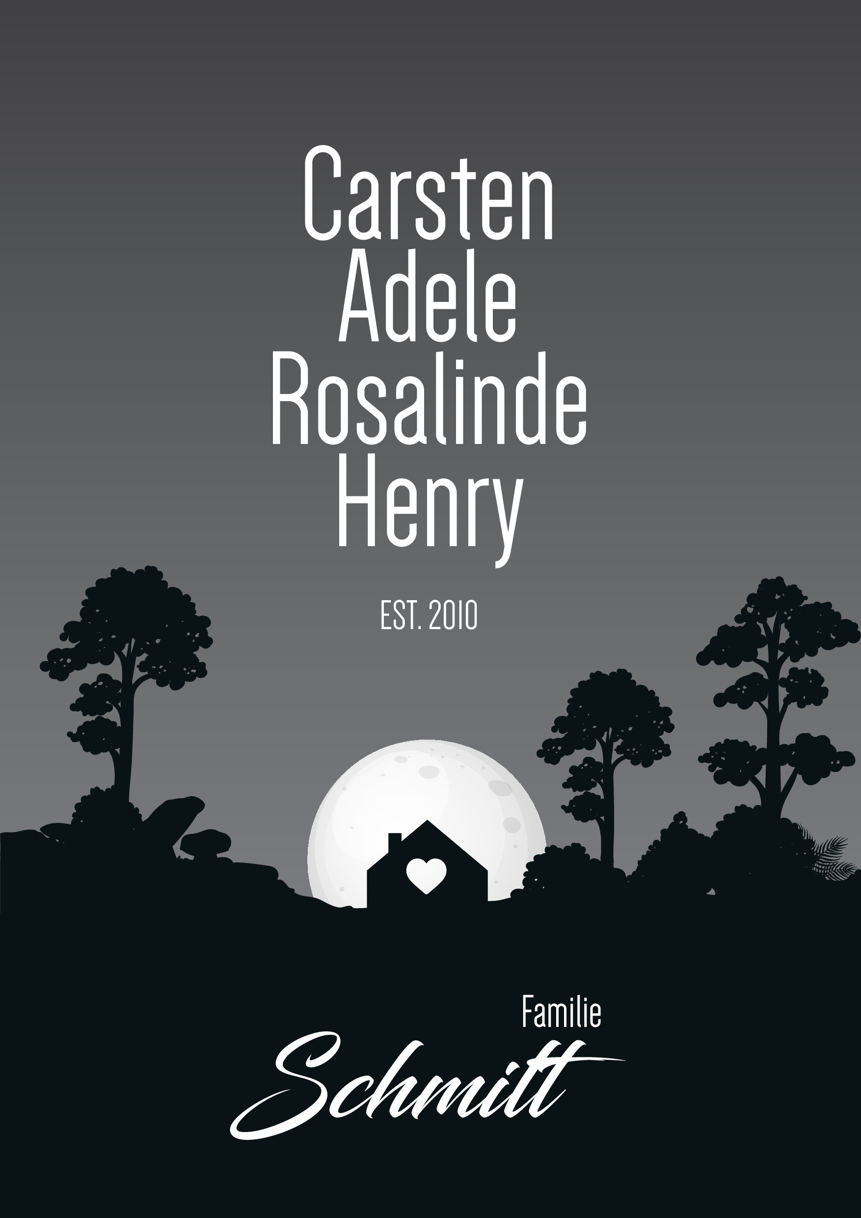 Family poster that touches hearts