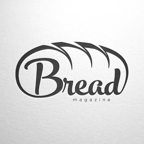Create a captivating logo for a digital magazine for bread lovers
