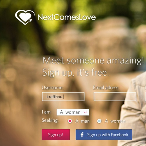 Online Dating Site - Landing Page