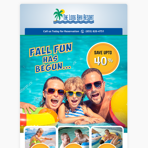 Email Template Design for a Resort