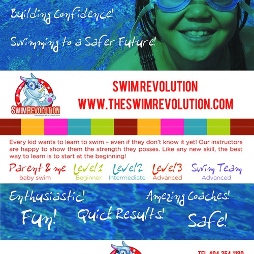 Design Engaging Flyer for a Fun and Energetic Child Swim Program - The Swim Revolution