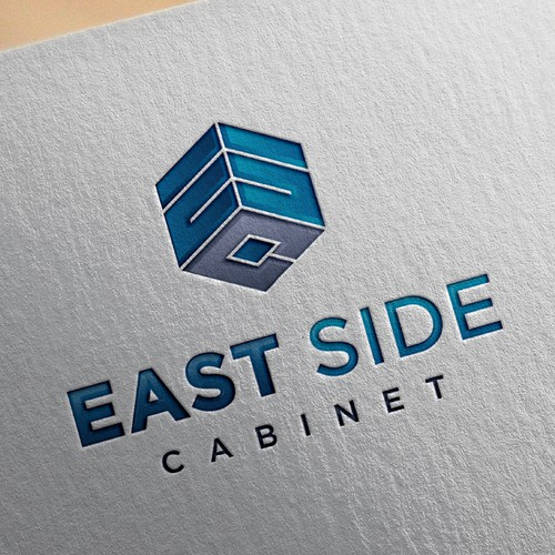 Simple bold logo for East Side Cabinet