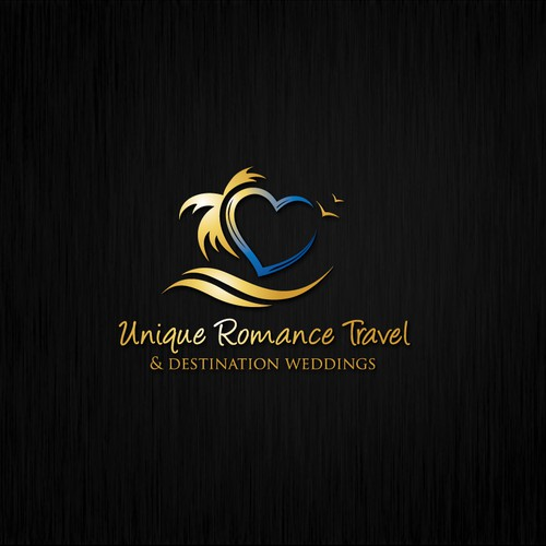 Create a LUXURY ROMANCE TRAVEL AGENCY identity targeting the wedding industry.