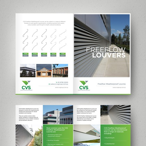 Create a Professional Brochure to Show Case products for CVS