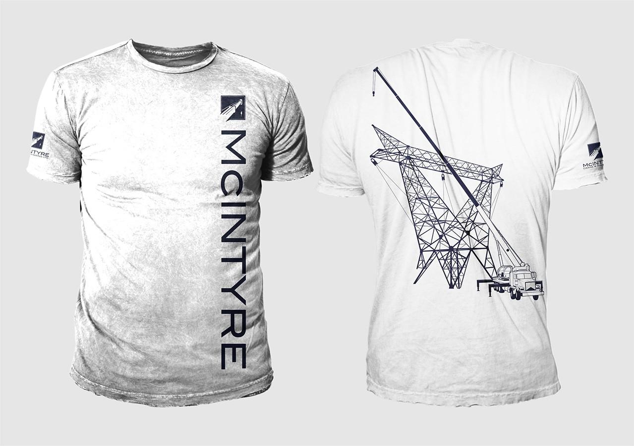 McIntyre Crane Tshirt for Powerline Crews
