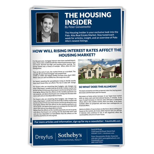 Newspaper ad for Dreyfus Sotheby's International Realty