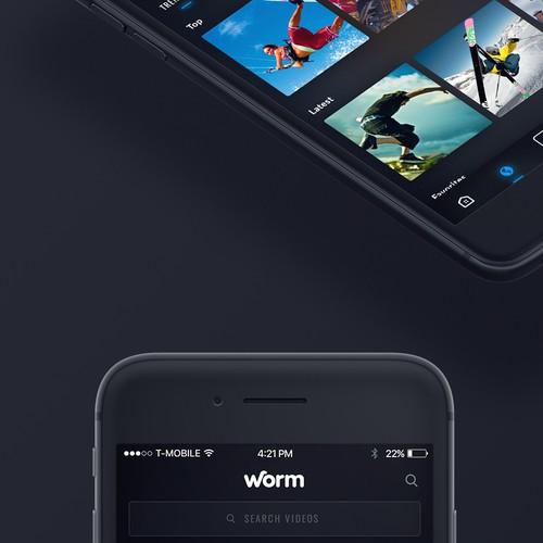 Video app newsfeed concept
