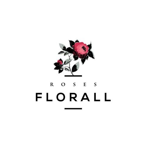 Logo design for Roses Florall
