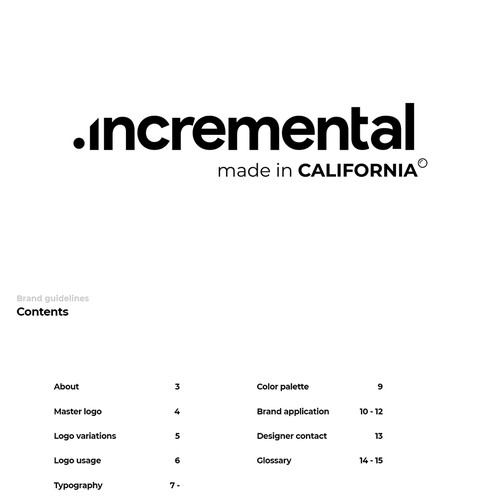 Logo with its complete Brand guide.
