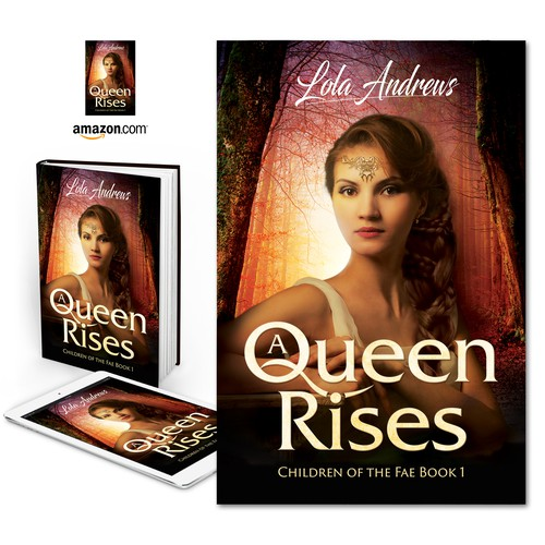 "Book cover for ""A Queen Rises"" by Lola Andrews"