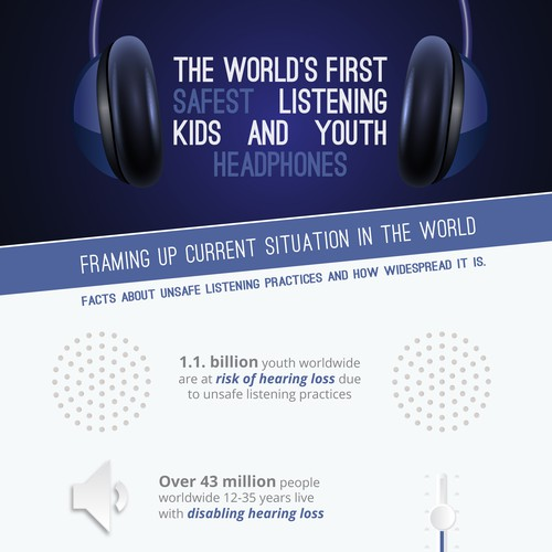 Audio concept infographic