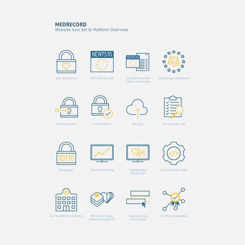 MedRecord Icon Set & Marketing Image
