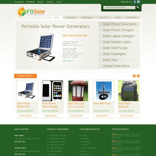 FTI Solar Website Design