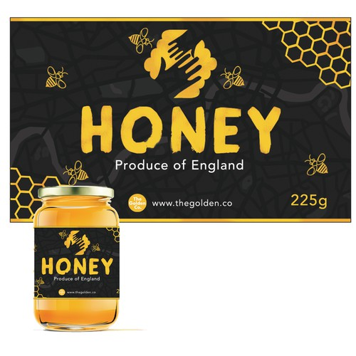 Label for a London basede honey company