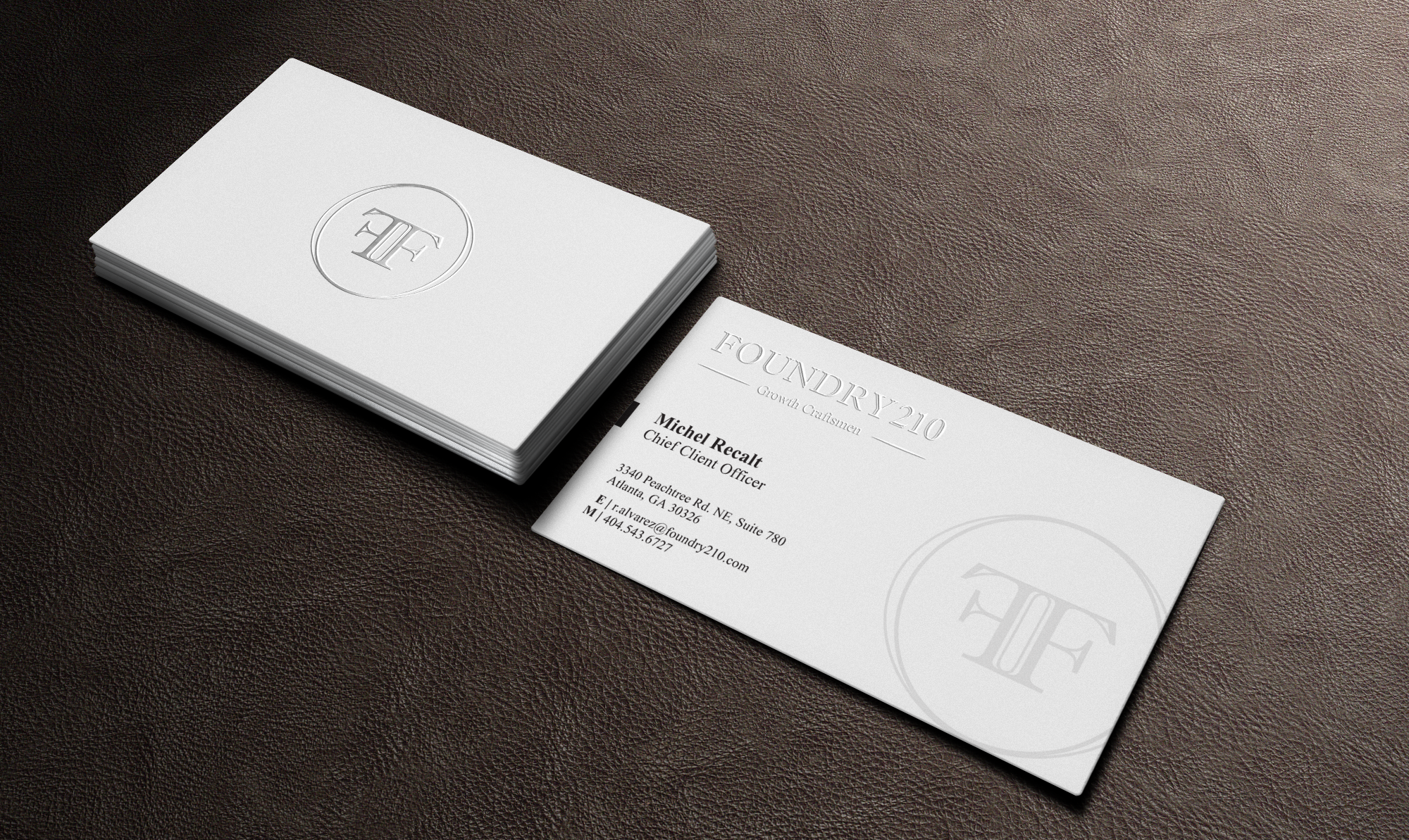 Need a classy/elegant business card for high end growth consultancy.