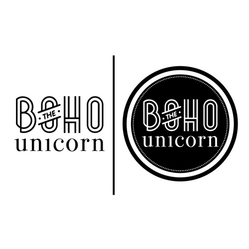 Create the next logo for The Boho Unicorn