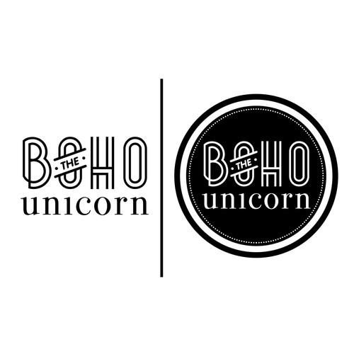 Create the next logo for The Boho Unicorn