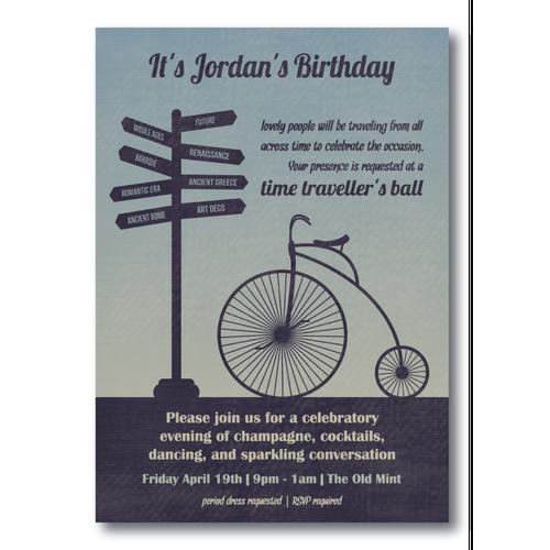 b day invitation
