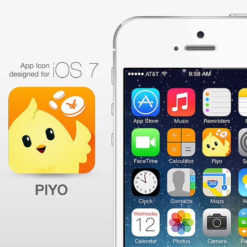 Piyo App icon design