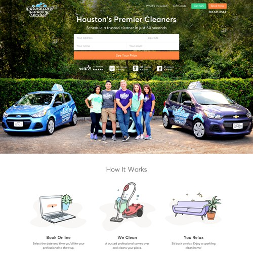 Homepage Concept for NaturalCare Cleaning