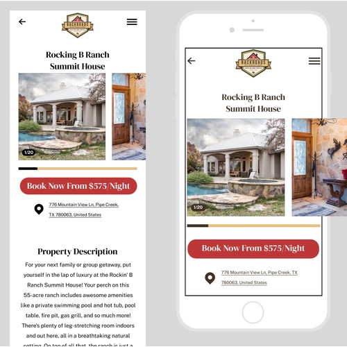 Backroads Reservations mobile booking