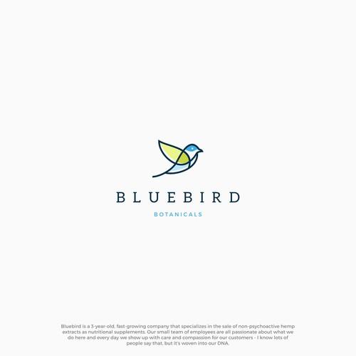 blue bird logo concept