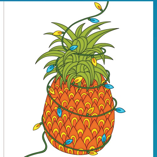 Hawaii greeting card concept