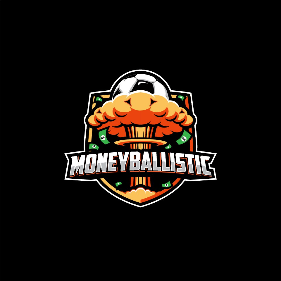 Logo for Moneyballistic, a grumpy podcast about sports analytics