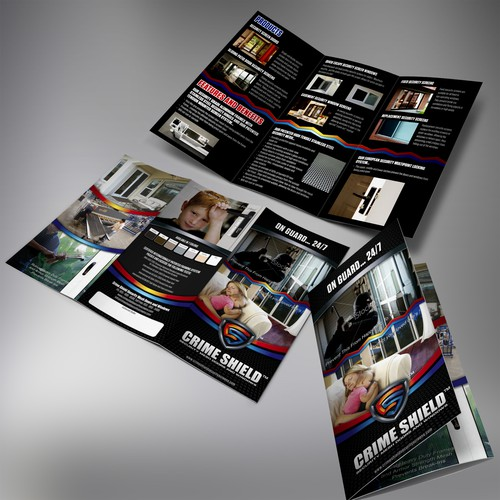 brochure design for CRIME SHIELD SECURITY MESH DOORS AND WINDOWS