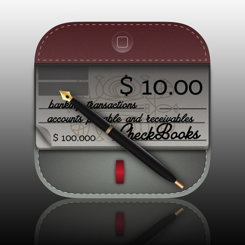 Need a winning iPhone/iPad App Icon for new CheckBooks Business accounting application.