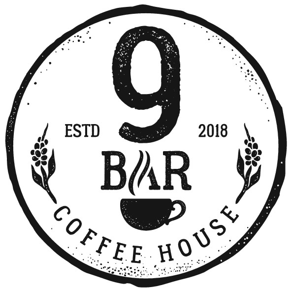 """Small local community logo needed for """"9bar coffee house"""""""