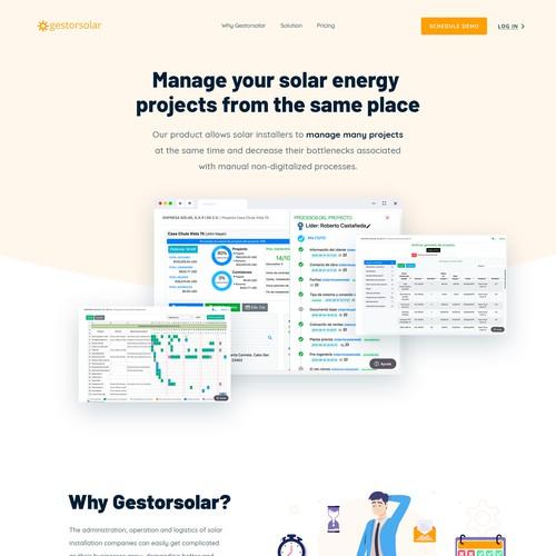 Gestorsolar Wesbite Design