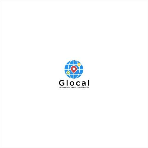 Glocal logo designs concept