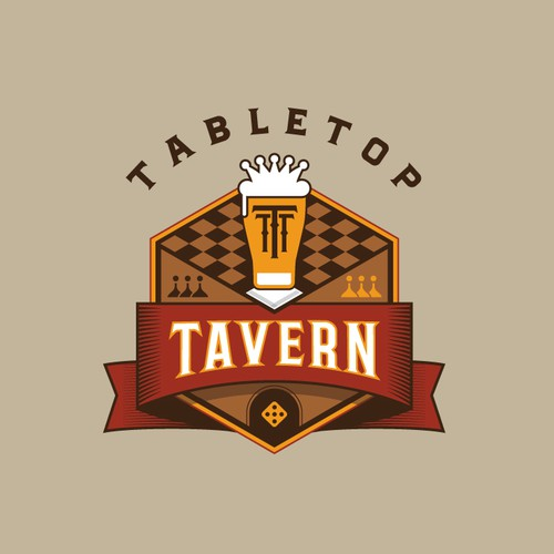Logo for a Board Game Bar