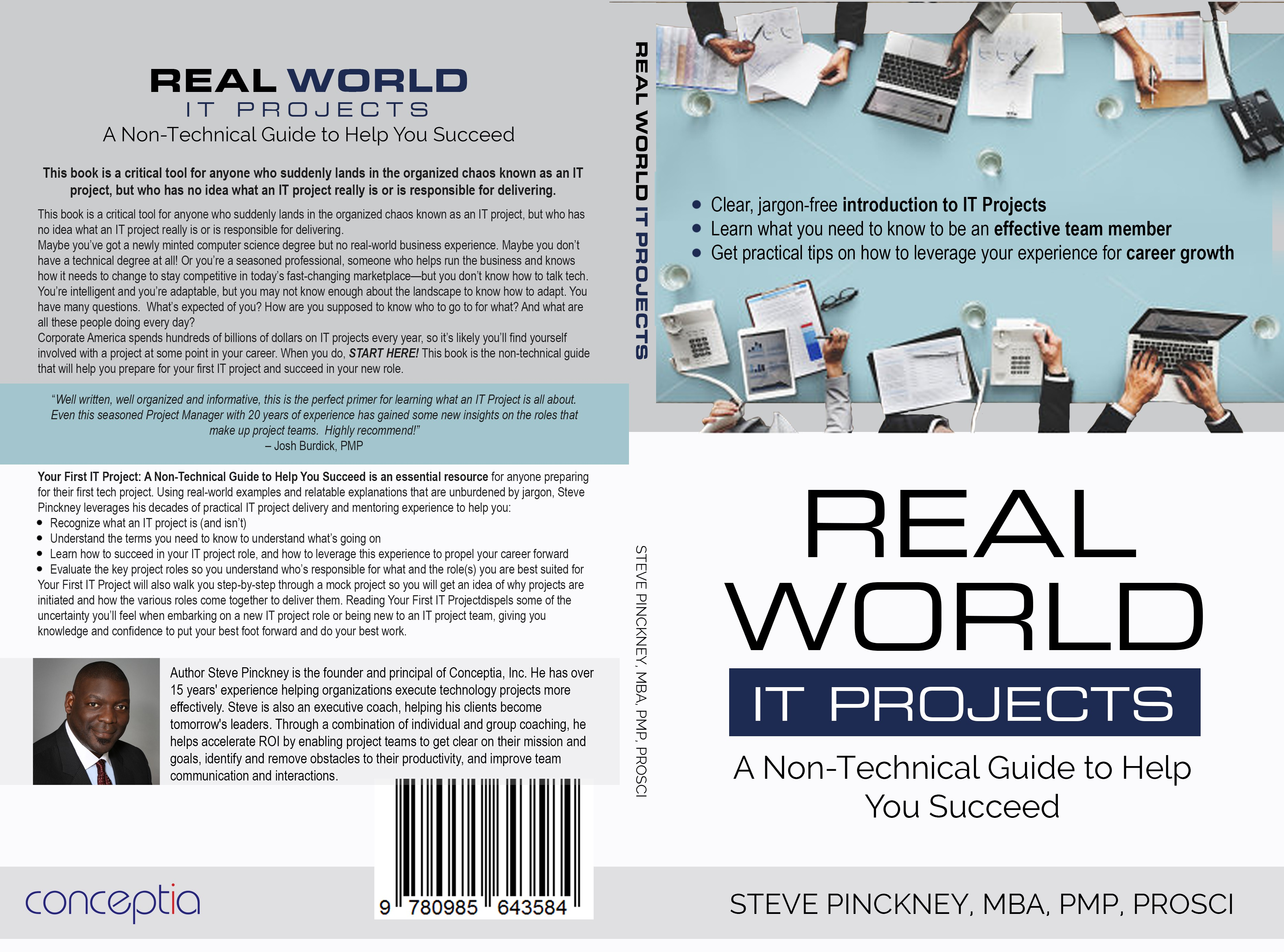 Design professional, eye catching print/eBook cover for primer on IT Projects.