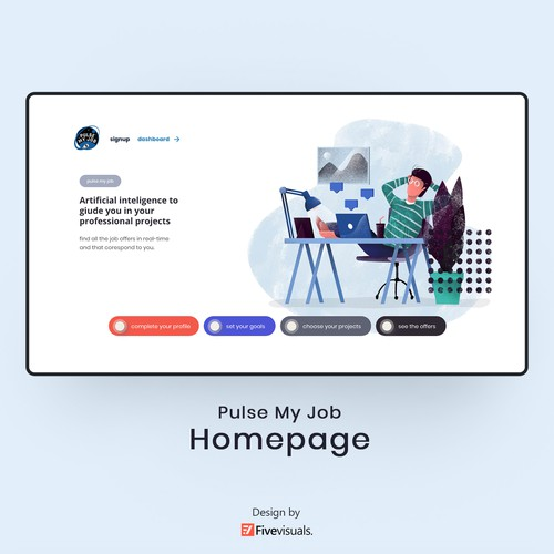 Website Design | Homepage Concept | Flat & Pastel