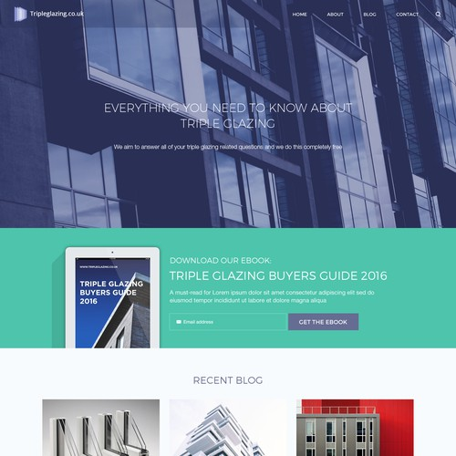 A Blog Redesign for Triple Glazing