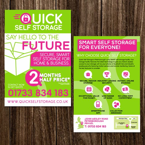 Quick Self Storage Leaflet