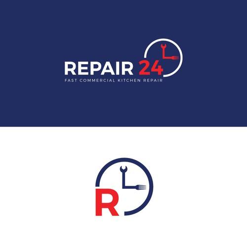 Logo Design concept for Repair 24