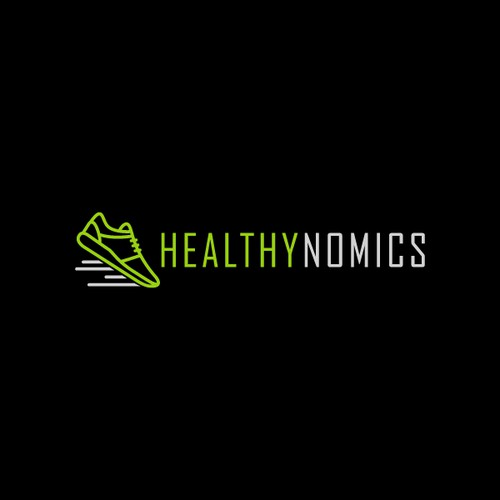 Create a unique logo for Healthynomics, a site for beginner runners.