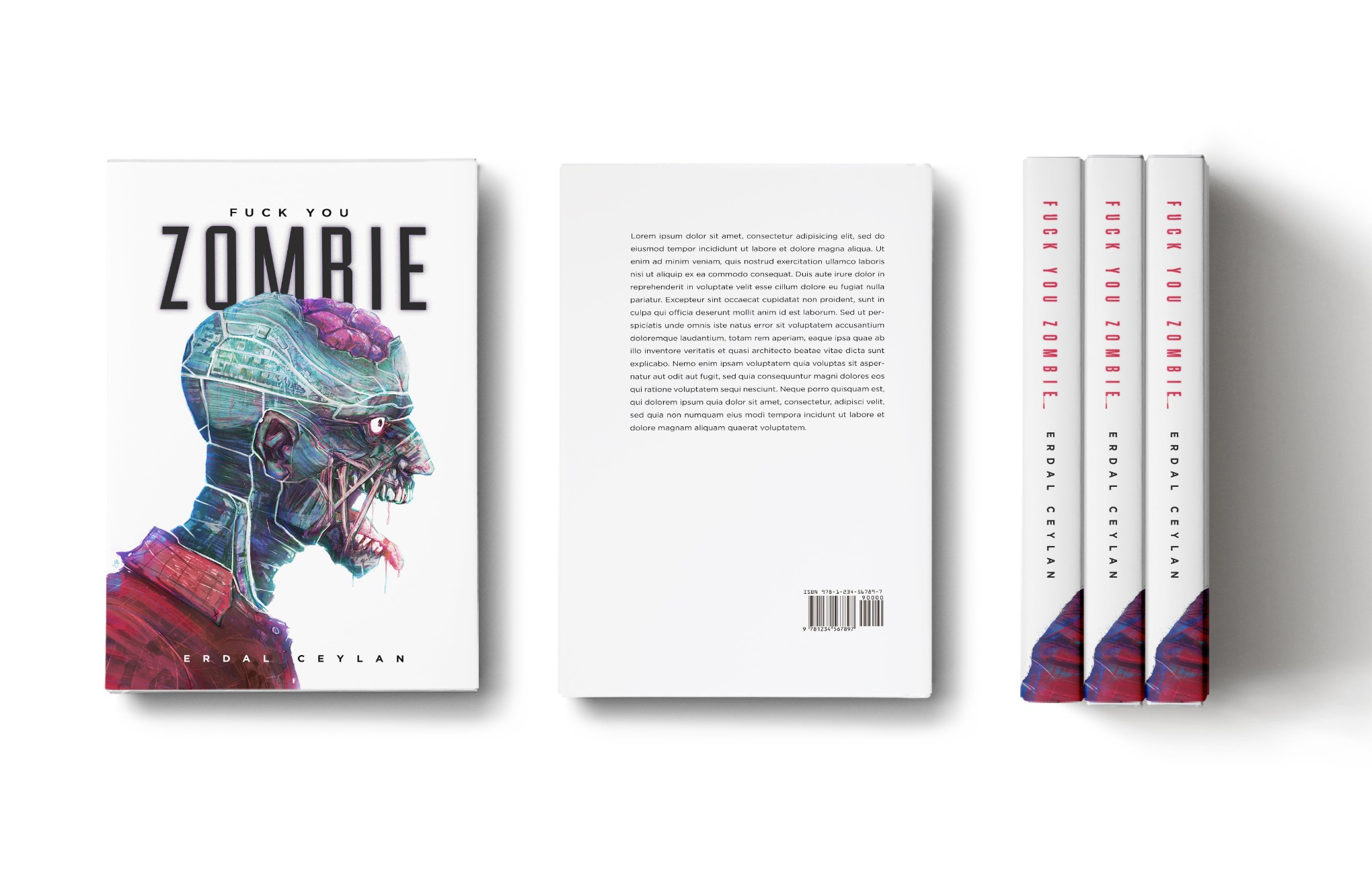 "Design an eye-catching and powerful book cover for ""Fuck you Zombie"""